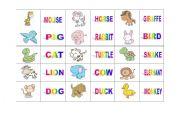 English worksheet: ANIMAL DOMINO