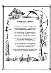 English Worksheets: Lesson Plan: Poem