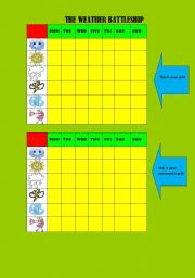 English Worksheet: Game: Weather and Days of the Week
