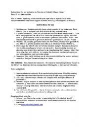 English Worksheets: Murder at Grimbly Manor House
