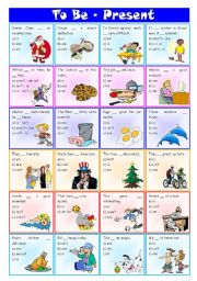English Worksheet: Verb to be (present) – exercises [3 tasks] ((2 pages)) ***editable