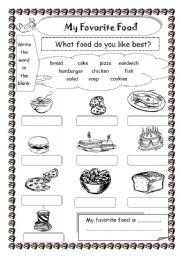 Printables My Favorites Worksheet my favorite food worksheet by saifonduan english food