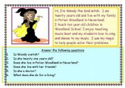 English Worksheets: Wendy the kind witch