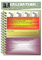 English Worksheets: Short film- Validation