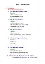 English worksheet: Simple Present Tense