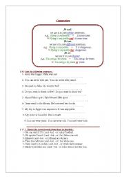 English Worksheets: connecters