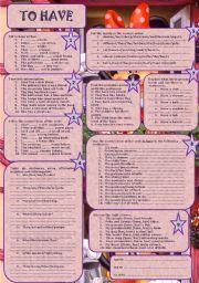English Worksheet: To have