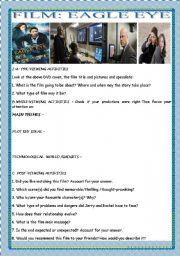 English Worksheets: FILM-  EAGLE EYE