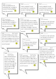 English Worksheets: encouragement notes