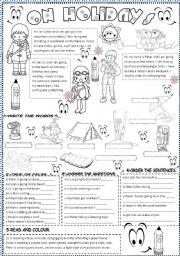 English Worksheets: on holidays