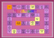 English Worksheet: BOARDGAME FOR GREAT REVISION OF GRAMMAR & SOME VOCAB! items - fully editable!