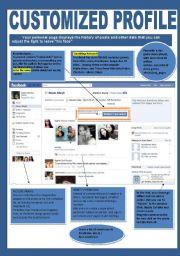 English Worksheet: Facebook 2-3