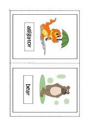 English Worksheets: Animals flashcards