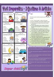 English Worksheets: Test Preparation - Adjectives / Articles