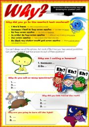 English Worksheets: POSSIBLE ANSWERS AFTER