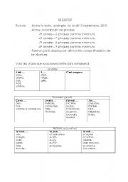 English Worksheets: Journal Writing Reference sheet