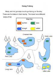 English Worksheets: Going Fishing