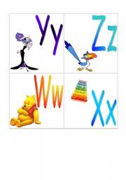 Alphabet with Disney (Part4)