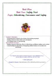 English Worksheet: safety first lesson plan