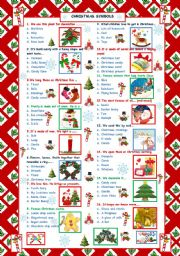English Worksheet: Christmas words Quiz