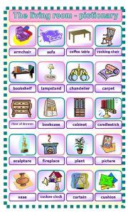 English Teaching Worksheets Living Room