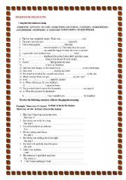 english teaching worksheets indefinite pronouns. Black Bedroom Furniture Sets. Home Design Ideas