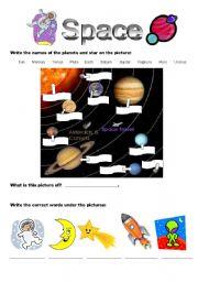 English teaching worksheets: Space