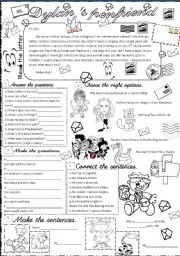 English Worksheets: Dylan�s penfriend