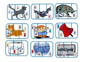 English Worksheet: CVC sound jigsaw matching game