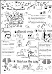 English Worksheet: my postcard