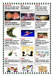 English Worksheet: NEW YEAR/IDIOMS