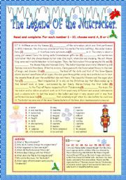 English Worksheets: THE LEGEND OF THE NUTCRACKER.