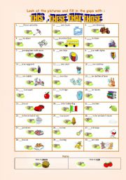 english worksheets this that these those 3. Black Bedroom Furniture Sets. Home Design Ideas