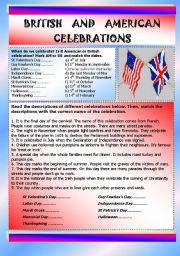 British and American celebrations