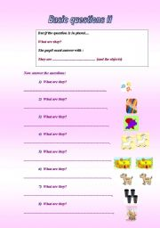 English Worksheets: BASIC QUESTIONS FOR BEGINNERS 2