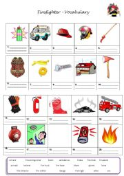 Firefighter Preschool Worksheets http://www.eslprintables.com/vocabulary_worksheets/general_vocabulary/firefighter_related_vocabulary_483528/