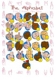 English Worksheet: Sign Language - finger spelling