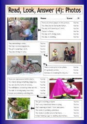 Read - Look - Answer: Photos (4)