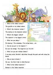 English Worksheets: questions with answers