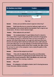 English Worksheets: reading comprehension-test