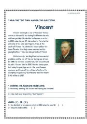 English Worksheets: Vincent