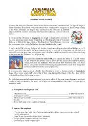 English Worksheet: Christmas around the world