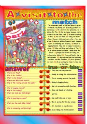 English Worksheet: A visit to the park!