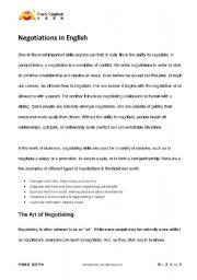 group simulation negotiation essay