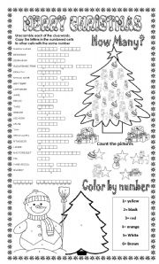 MERRY CHRISTMAS (3 DIFFERENT ACTIVITIES) - ESL worksheet by ...
