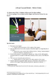 English Worksheets: A Star Called Henry study guide