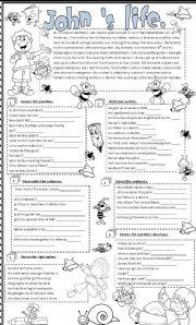 English Worksheets: John �s life