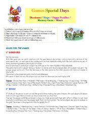 English worksheet: set of board games part 1/5 : rules + match game