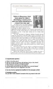English Worksheets: Losing your memory
