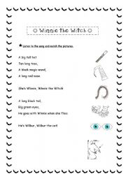 Winnie the witch´s song (match the pictures)